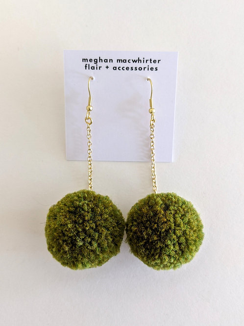 Pom-Pom Earrings by Megan MacWhirter