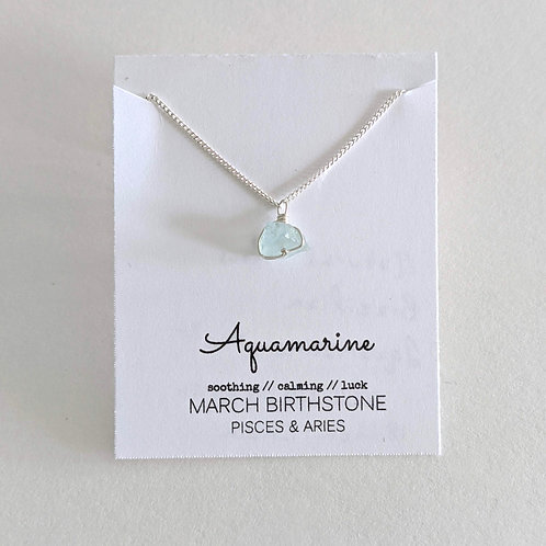 Darling Gems for You Aquamarine Necklace