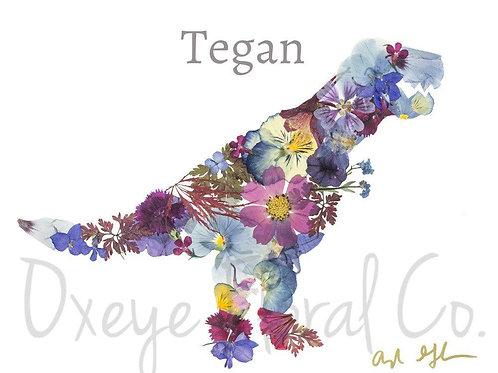 Tegan the T-Rex 8x10 by Oxeye Floral Co.