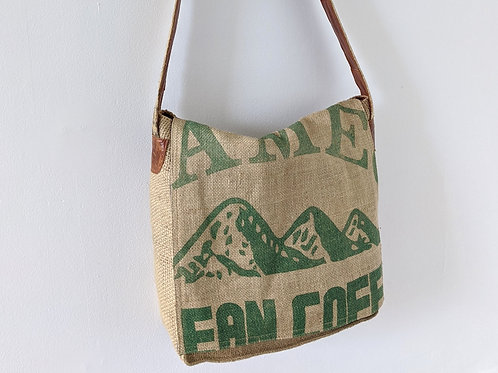 Burlap Messenger Bag by The Leathersmith