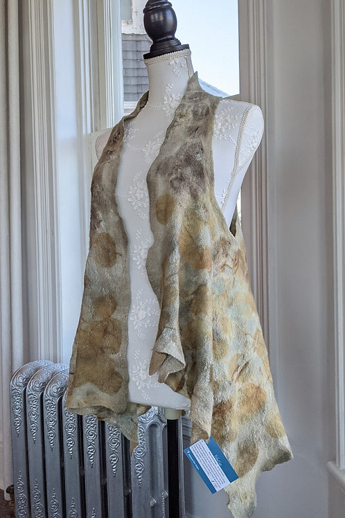 Nuno Felted Vest by Lisa Schwartz