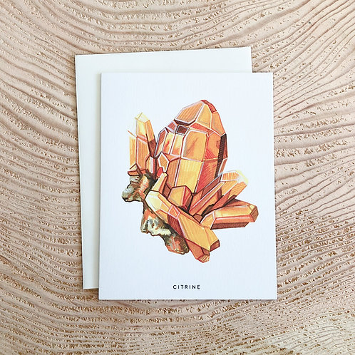 Citrine November Birthstone Card by Scout Paper