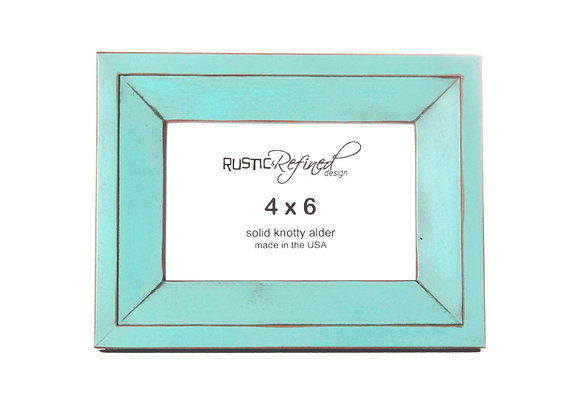 4x6 Haven Picture Frame - Turquoise