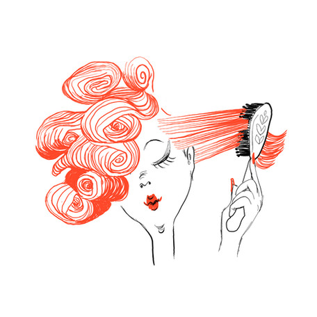 'Hair Do' from the 'Getting Ready' series - Gift Wrap Designs.