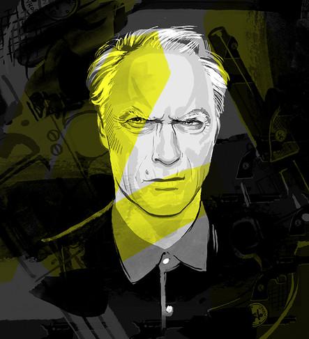 'Clint Eastwood', Celebrity Portrait Series.