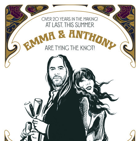 'Emma & Anthony' - Invitation. Portraiture. Private Commission.