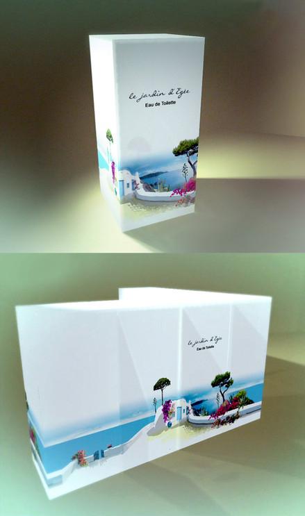 'Le Jardin d' Égée' - Packaging. Branding development and illustrations for the perfume.