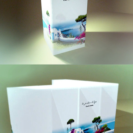 'Le Jardin d'Egee' - Packaging Design. Branding development and illustrations for the perfume.