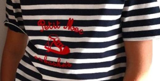 T-shirt nautique #petitmec_en_baskets