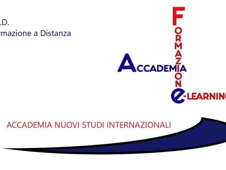 Nasce  F.A.E. (Formazione Accademia E- learning) la FAD  DI ACCADEMIA NUOVI STUDI INTERNAZIONALI