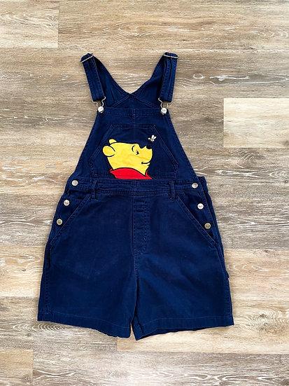 Pooh Navy Overalls