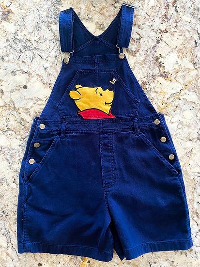 Navy Pooh Overalls
