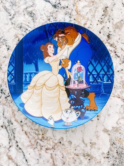 Beauty & Beast Glass Plate