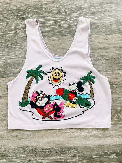 Smiley Face Cropped Tank