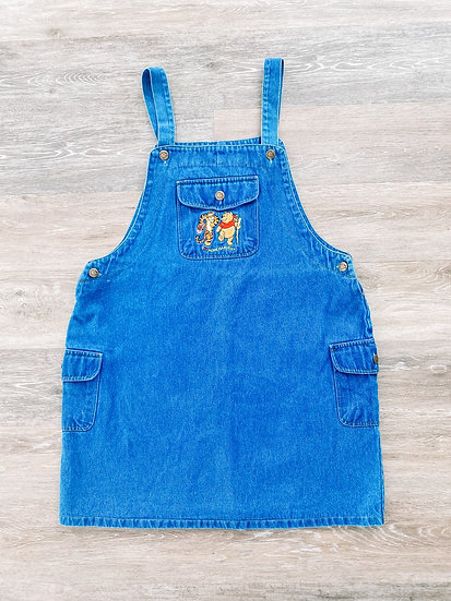 Pooh Denim Overall Dress