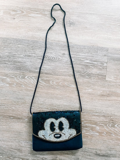 Vintage Beaded Mickey Clutch
