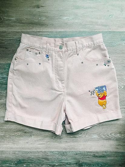 Winnie Pink Denim Shorts