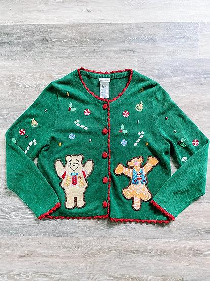 Pooh & Tigger Button Down Sweater