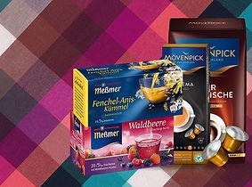 Německé potraviny, káva, čaj