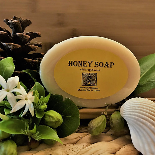 HONEY SOAP with PEPPEMINT