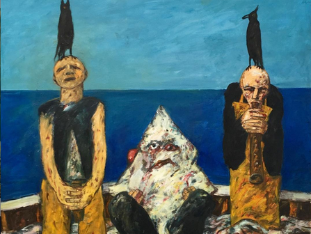 Specific As Heck! Homage to John Knox, 1969 by John Bellany @ Newport Street Gallery