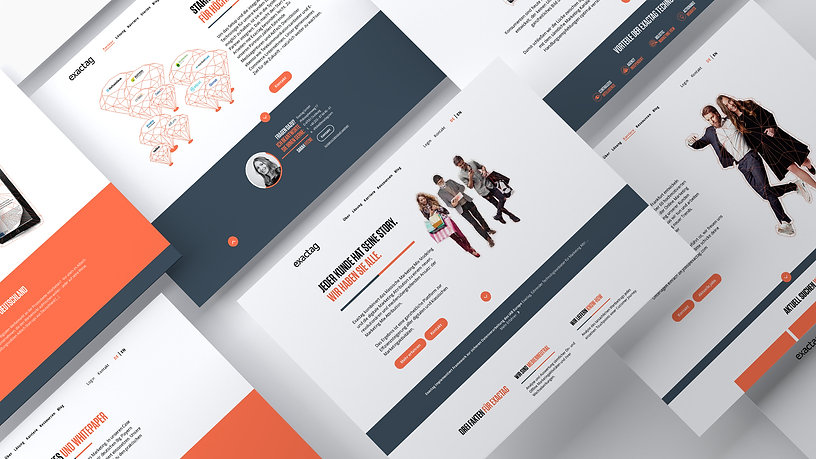 exactag, website, design, marketing-attribution, re-launch