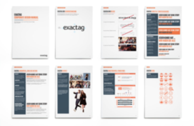 exactag, corporate design, design, marketing-attribution, re-launch