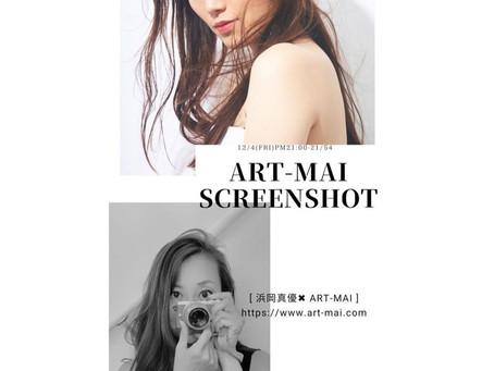 ART-MAI'S SCREENSHOT  12/4(fri)FMラジオ 女優、モデル浜岡真優ちゃんゲストとしてお招き