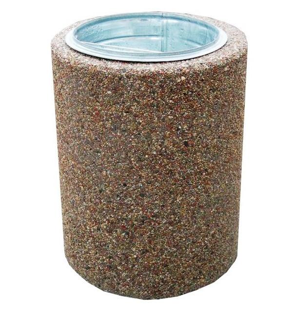 Урна мраморная бетонная круглая