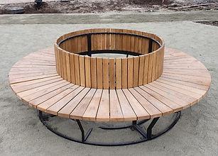Скамейка круглая металлическая
