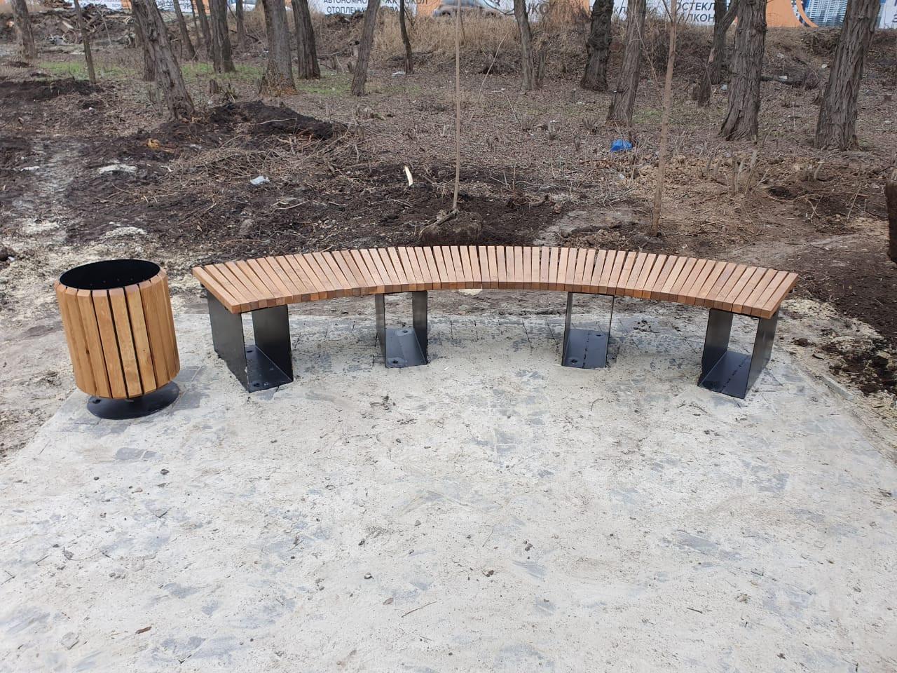 Скамейка радиус