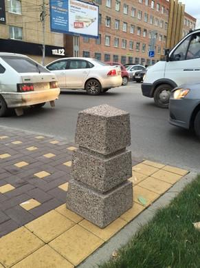Столб антипарковочный бетонный гранитный