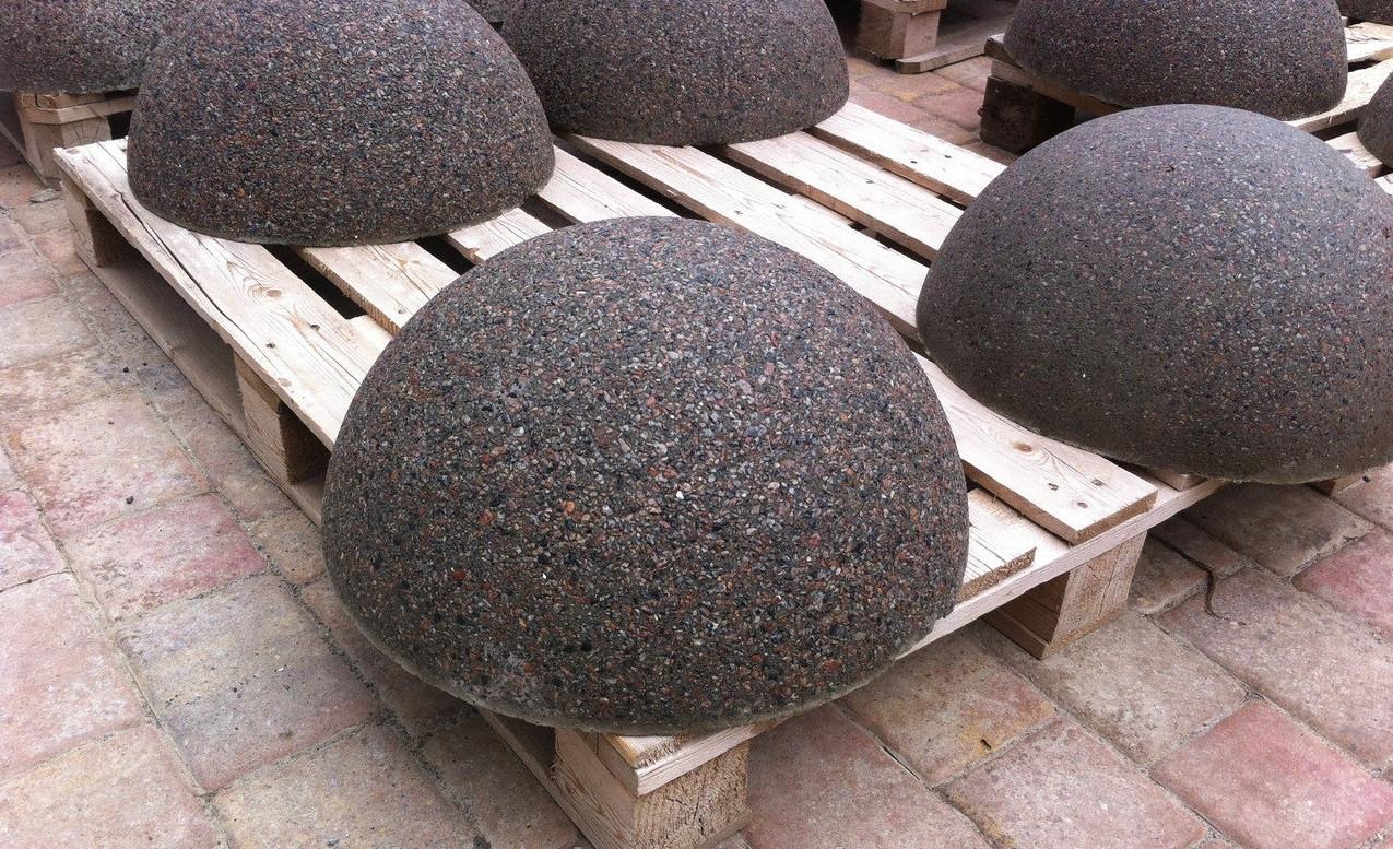 полусфера бетонная гранитная