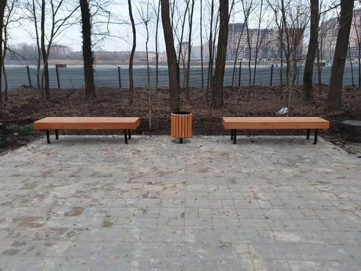 Скамейка металлическая линия