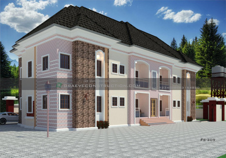 1 & 2 Bedroom Apartments Plan design in Nigeria (portharcourt)