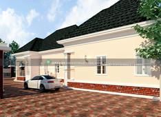 3 bedroom bungalow with BQ | Nigerian Houseplan Designs