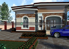 3 bedroom bungalow design in ibadan with flat roof | Nigerian Houseplan Designs