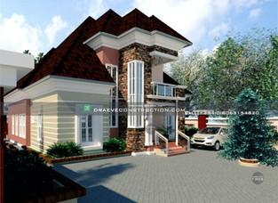 4 Bedroom Penthouse Design in Uyo   Nigerian Houseplan Designs