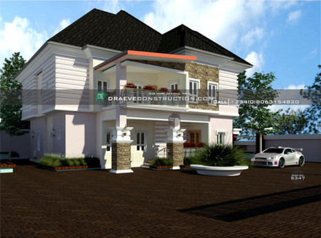 6 bedroom duplex design in enugu | Nigerian Houseplan Designs