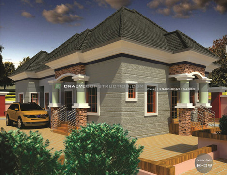 3 Bedroom Bungalow Houseplan in Nigeria with a Self Contain ( PortHarcourt)