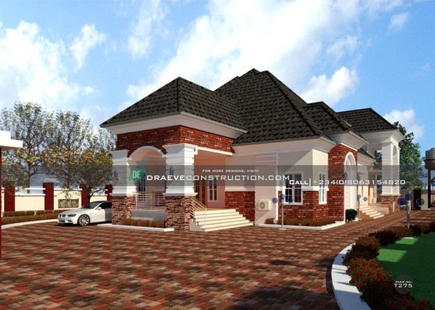 5 bedroom bungalow with penthouse design in lagos, nigeria