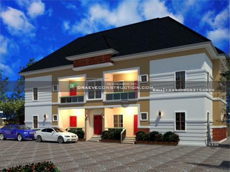 2 bedroom flats design in portharcourt | Nigerian Houseplan Designs