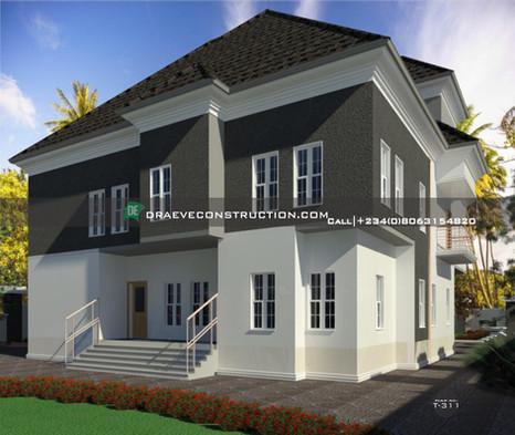 5 Bedroom Penthouse in PortHarcourt | Nigerian Houseplan Designs