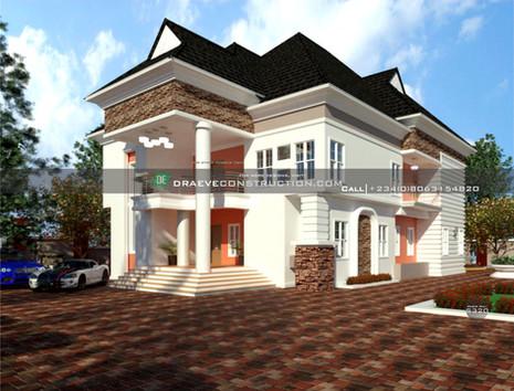 6 bedroom duplex design | Nigerian Houseplan Designs