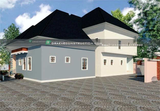 4 bedroom penthouse design in ibadan, nigeria
