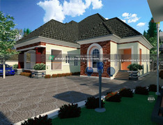6 Bedroom Bungalow House Design in Nigeria