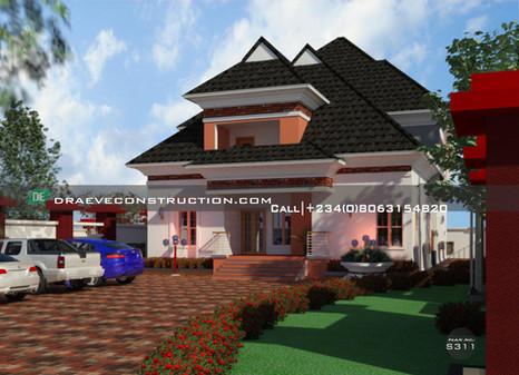 6  bedroom penthouse | Nigerian Houseplan Designs
