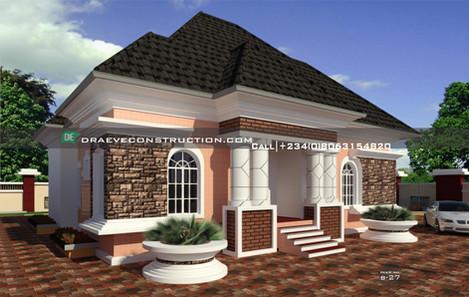 3 bedroom bungalow house design__ B-27.j