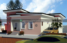2 bedroom bungalow with flat roof design | Nigerian Houseplan Designs