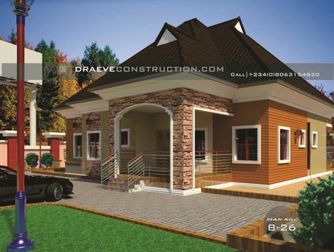 4 Bedroom Bungalow Houseplan in Nigeria (Asaba)